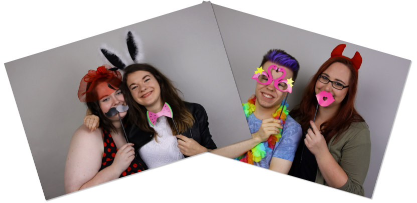 Beispielbild Photobooth-Fotos mit Party-Accessoires